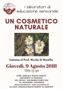 laboratori di educazione sensoriale: un cosmetico naturale 9-agosto-2018