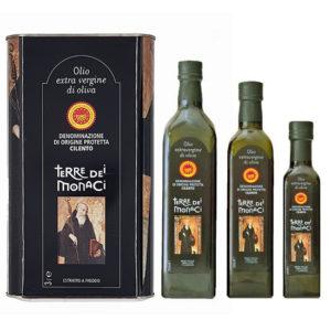 olio extravergine di oliva DOP Cilento Terre dei Monaci